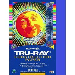 Strathmore / pacon papers 103022 tru ray sulphite construction blue 50 pack 9x12 103022