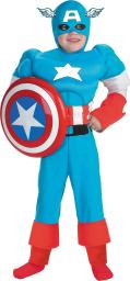 Costumes For All Occasions Dg5017K Capt America Dlx Muscle 7 8 DG5017K