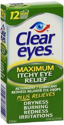 Clear Eyes Maximum Itchy Eye Relief - 0.5 Oz, Pack Of 3