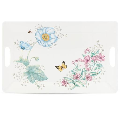 Lenox 855601 Butterfly Meadow Melamine Dinnerware Serving Tray, Large - 3 mm