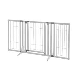 Richell 94957 origami white richell premium plus freestanding pet gate origami white 34-63 x 20.5-26 x 32