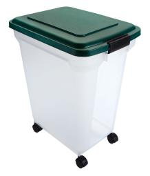 Remington White/Green Plastic 55 qt. Pet Food Container For Universal - Case Of: 6;