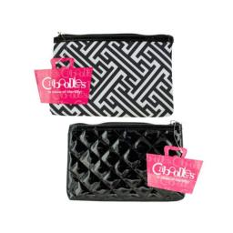 Kole Imports KL526-48 8 x 1 x 5.5 in. Caboodles Clutch Cosmetic Bag - Pack of 48