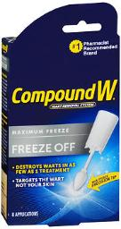 Compound W Freeze Off Wart Removal System - 8 Ct, Pack Of 4
