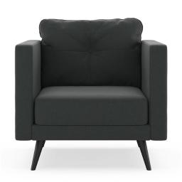 NyeKoncept 50200613 Vance Armchair Cross Weave - Raven Gray with Black Finish