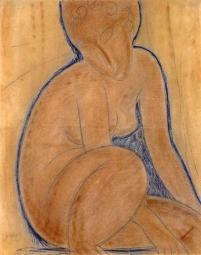 Crouched Nude Poster Print by  Amedeo Modigliani PDX373629SMALL