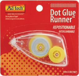 "Repositionable Dot Glue Runner .25""X196"""