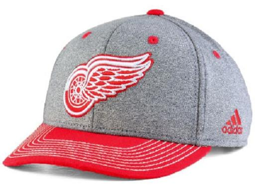 Detroit Red Wings NHL adidas Heather Line Change Snapback Hat