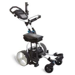 Bag Boy Bb71010 Golf Navigator Quad Electric Push Cart, White & Blue