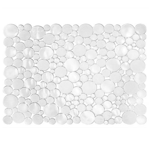 Interdesign 09252 12 x 15.5 in. Clear Bubbli Sink Protector Mat, Pack of 6