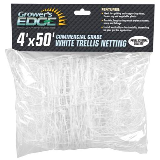 Grower's Edge Commercial Grade Trellis Netting Grower's Edge Commercial Grade Trellis Netting 4 ft x 50 ft (10/Cs)