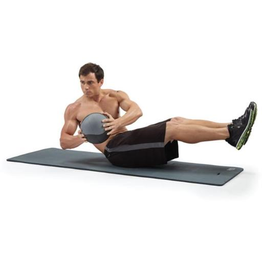 Pure Global Brands 8624FMG Fitness Deluxe 12mm Exercise Mat - Charcoal