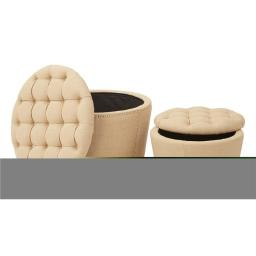 Office Star Products SB239-M23 Lacey Tufted Storage Set, Brown