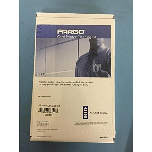 Fargo electronics 86003 cleaning kit includes 2 printhead cleaning pens, 10 cleaning cards, 10 cleanin