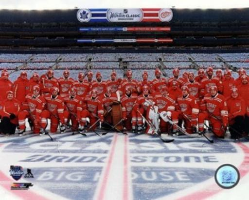 Detroit Red Wings Team Photo 2014 NHL Winter Classic Sports Photo