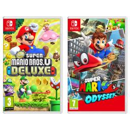 Nintendo Switch New Super Mario Bros U Deluxe and Super Mario Odyssey Import Region Free