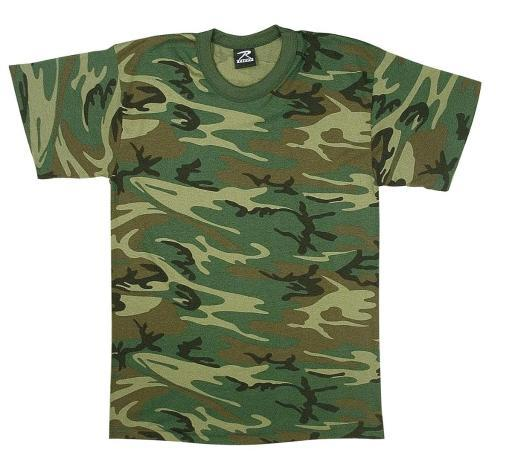 Kid's Heavyweight 6 oz. T-Shirt Woodland Camouflage