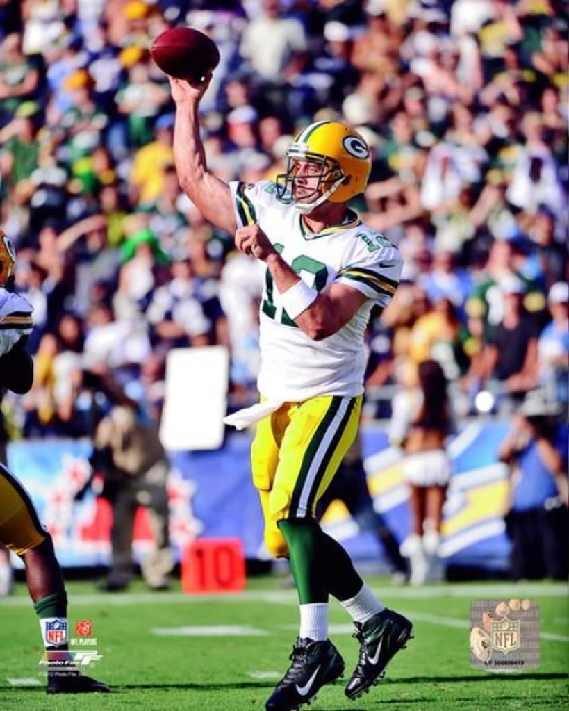 Aaron Rodgers 2012 Action Photo Print