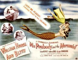 Mr. Peabody And The Mermaid William Powell Ann Blyth 1948 Movie Poster Masterprint EVCMSDMRPEEC001H