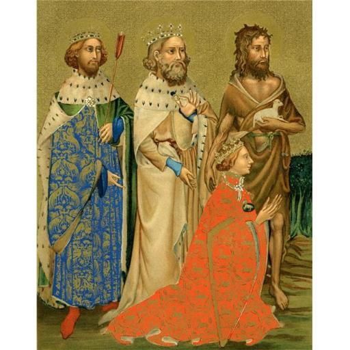 Posterazzi DPI1877673LARGE Richard II & His Patron Saints. Richard Ii, 1367 to 1400 King of England From The Book Short History of The English People