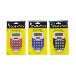 Battery Calculator - 8 Digit Display - Asst. Color