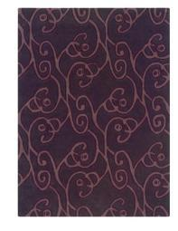 Linon Trio Collection Chocolate & Violet - 5' x 7' [Kitchen]