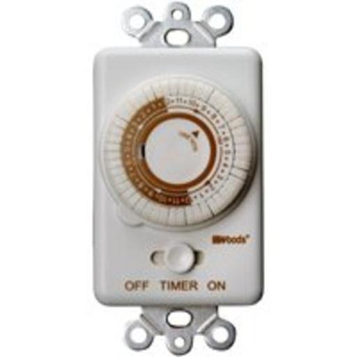 Woods 59745 Wall Programmable Timer 24 Hr Compatible With Cfl