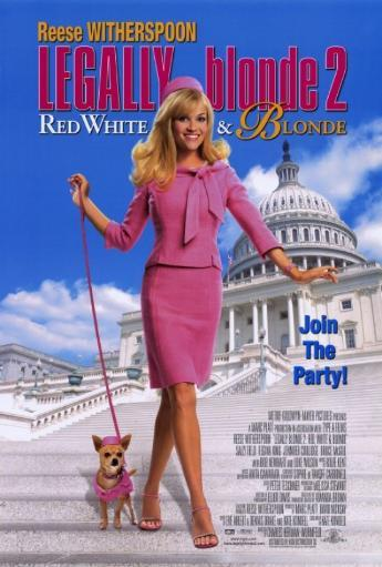 Legally Blonde 2: Red, White & Blonde Movie Poster Print (27 x 40) NMMIXR0M5TPXNLUL