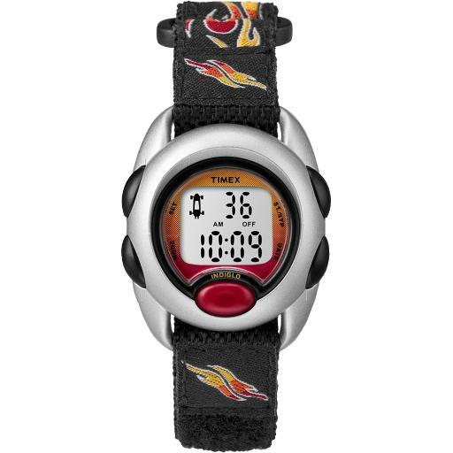 Timex kids digital flames watch with nylon band t78751xy