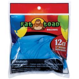 "Fat Toad Balloons Round 12"" 12/pkg-light Blue Stars"