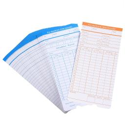 Yescom 50 Count Monthly Time Clock Cards Timecard for Employee Attendance Payroll Recorder