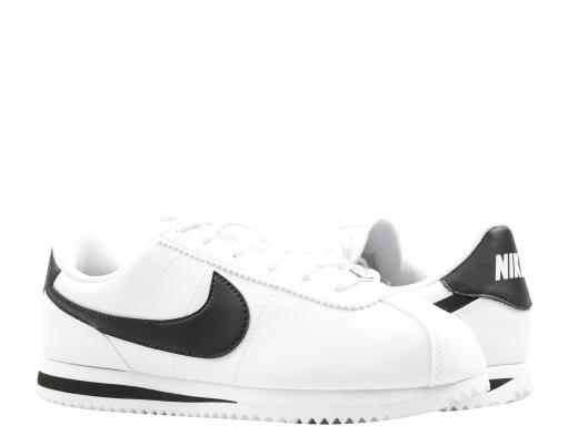 half off 9554b 3a17f Nike Cortez Basic SL (GS) White Black Big Kids Running Shoes 904764-102
