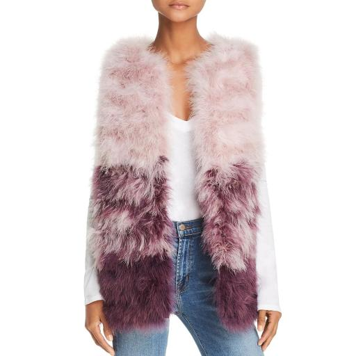 525 America Womens Turkey Feather Colorblock Outerwear Vest