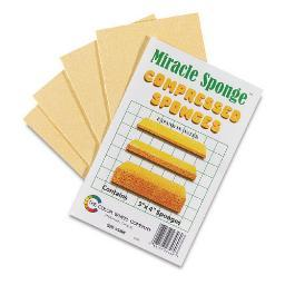 Color Wheel Company 3460 Miracle Sponge Compressed Sponges 4 Pack 3X4