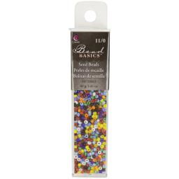 Jewelry Basics Glass Seed Beads 1.1oz-11/0 Assorted Color Seed Beads JBSB-33063