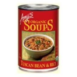 Amys Organic Tuscan Bean And Rice Soup - 14.1 Ounce
