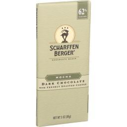 Scharffen Berger Chocolate Bar - Dark Chocolate - 62 Percent Cacao - Mocha - 3 oz Bars - Case of 12