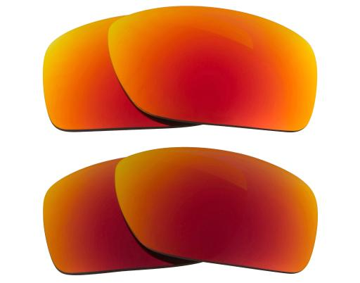 10faa07b755 Square Wire (2006) Replacement Lenses Red   Yellow by SEEK fits OAKLEY