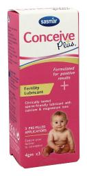 SASMAR Conceive Plus Fertility Lubricant, 3 Count