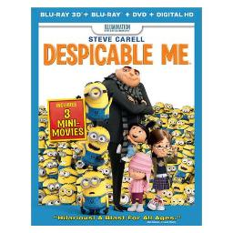 DESPICABLE ME (3D BLU RAY/BR/DVD W/DIGITAL COPY/ULTRAV) (3-D) 25192192692