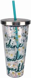 Spoontiques 21312 smile sparkle glitter cup w/st