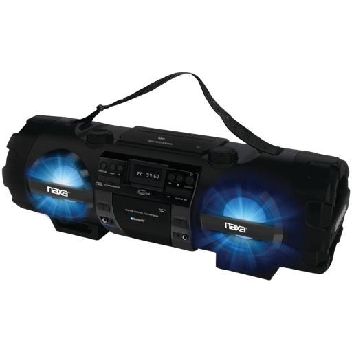 Naxa Npb-262 Cd/Mp3 Bass Reflex Boom Box & Pa System With Bluetooth(R)
