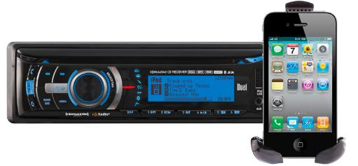 Dual dual multimedia full graphic lcd single din car stereo builtin bt cd usb mp3