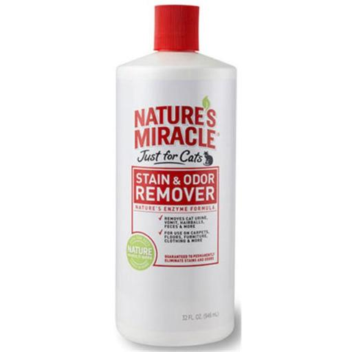 Upg 309547 32 oz Natures Miracle Just for Cats Stain & Odor Remover S13MLVOZYPHATGLC