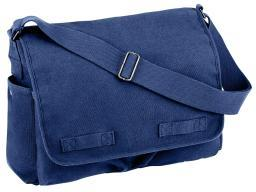 Rothco Vintage Messenger Bag , Blue