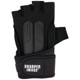 Sharper image(r) si-fg-380sm-blk fitness gloves with wrist support (small; black)