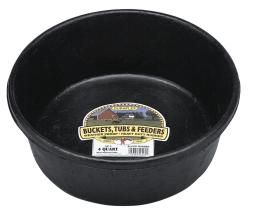 Little Giant Hp2 Corded Rubber Feed Pan, 4 Quarts, Black