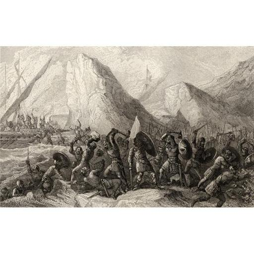 Posterazzi DPI1860041 The Normans Are Destroyed On The Galician Coasts Spain in 969 Poster Print, 19 x 12