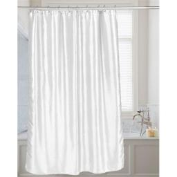 Carnation Home Fashions FSC15-FS-21 72 x 72 in. Shimmer Faux Silk Shower Curtain, White