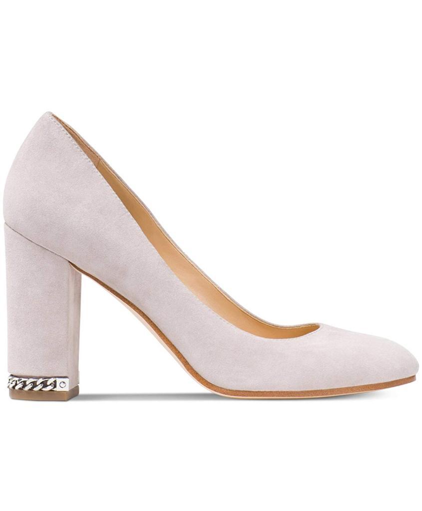 91d193840095 MICHAEL Michael Kors Michael Michael Kors Womens Jamie Block-heel Pump Leather  Round Toe Classic P...
